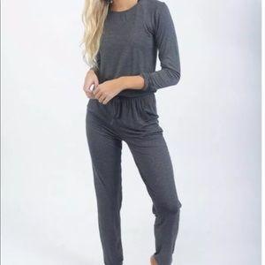 Zyia Active Long Sleeve Jumpsuit Romper Medium